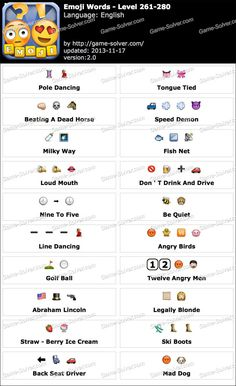 Emoji Words Level 341-360 | emoji-express | Pinterest