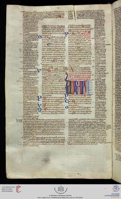 Vatikan, Biblioteca Apostolica Vaticana, Pal. lat. 739  Digestum vetus  14. Jh.  Seite: 100v