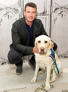 We're Melting! Scott Foley and Alf the service dog both took part in AOL's BUILD Speaker Series at AOL Studios in NYC May 13.