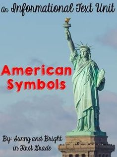 Beautiful set of simple informational texts, posters, writing prompts & text dependent questions to teach K-2 students about America's symbols ($)