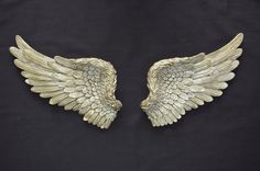 Items similar to Vintage Antique Style Shabby Chic Gold Angel Wings Wall Art Decoration on Etsy Angel Wings Art, Angel Wings Costume, Angel Wings Wall Decor, Bird Wings, Wing Wall, Rustic Shabby Chic, Wall Art Decor, Vintage Antiques, Bronze