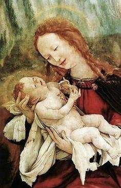Matthias Grunewald (German Northern Renaissance Painter, ca.1470-1528) Nativity (detail) c. 1515