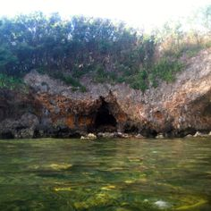 Cave on the shoreline of Agat Beach, Guam