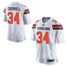 """$23.88 at """"MaryJersey""""(maryjerseyelway@gmail.com) Nike Browns 34 Isaiah Crowell White Men Stitched NFL New Elite Jersey"""