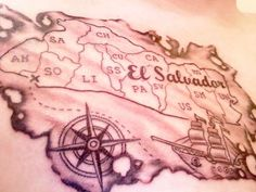 burned map tattoo - cute idea, could choose wherever you wanted to appear in the map