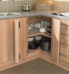 Kitchen Cabinet Storage, Diy Kitchen Cabinets, Kitchen Cabinet Design, Kitchen Furniture, Kitchen Interior, New Kitchen, Corner Cabinets, Kitchen Ideas, Corner Cupboard