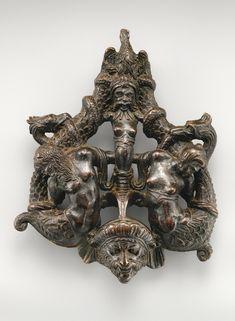 16th century door knocer. Venice. Bronze. metmuseum