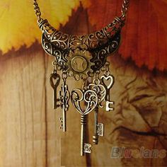 Cheap pendant mini, Buy Quality pendant plate directly from China pendant cherry Suppliers:  2014 New hot fashion Vintage Elegant Key Rhinestone Bronze Chain Necklace & Pendants    Condition: New Color: As Pi