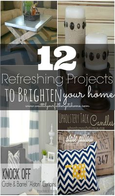 12 Refreshing DIY projects for you to brighten your home this spring from Wait Til Your Father Gets Home #DIY #home #decor #features