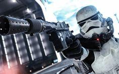 Download wallpapers Stormtrooper, Star Wars, Battlefront, cyborg, robot