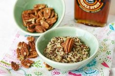 Maple Pecan Coconut Quinoa Breakfast.