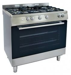 AWARD FULL GAS FREESTANDING OVEN RRP $2,699 Features: Electronic ignition Oven capacity 110L Wok burner Easy clean with removable inner door glass Flame failure safety device Cool touch door Storage compartment Available in stainless steel Dimensions 912 x 900 x 610 mm