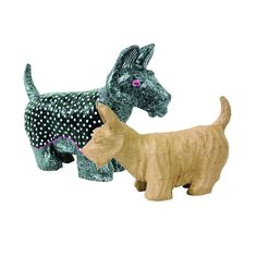Paper Mache Small Scottish Dog - Decopatch from Crafty Crocodiles UK