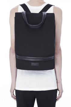 RAD HOURANI: UNISEX LAPTOP BACKPACK / HANDBAG