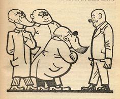"Josef Lada – Illustration for Jaroslav Hašek's ""The Good Soldier Švejk and His Fortunes in the World War,"" 1924 The Good Soldier Svejk, World War One, First Novel, Children's Book Illustration, Childrens Books, Fairy Tales, Happy Birthday, Cartoon, Comics"