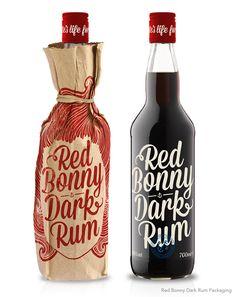 RED BONNY RUM PACKAGING