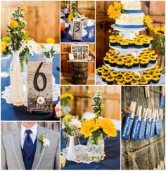 This Yellow Themed Country Wedding would be so much fun at #sawyerfamilyfarmstead