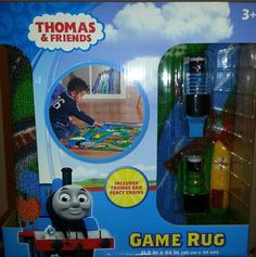 """Thomas Game Rug **Includes Thomas - 40"""" x 40"""" by thomasandfriends. $35.99. 40"""" x 40"""". Nonslip latex backing. Spot clean. Nylon. Includes: rug, & Thomas. Keep the fun rolling along with this Thomas the Tank Engine interactive rug. It's the perfect addition to your child's bedroom or playroom. Your little one will love using this kids' rug."""