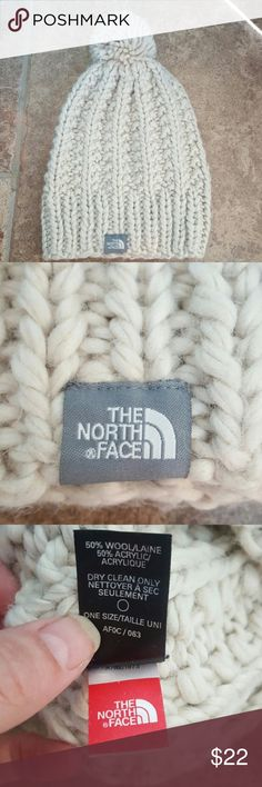 The North Face wool pom pom hat Oatmeal color North Face pom pom hat. Price is firm. Compare online The North Face Accessories Hats