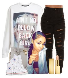 """""""."""" by trillest-queen ❤ liked on Polyvore featuring Untitled & Co, Michael Kors, AERIN and Converse"""
