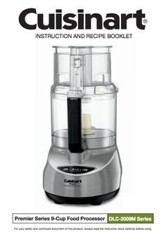 21 best food processor manuals images on pinterest food processor prep 9 9 cup food processor dlc 2009chbmy product manual forumfinder Gallery