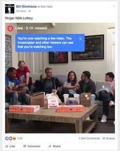The Ringer Facebook Live during draft lottery