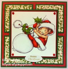 Made for Crafts Beautiful Magazine using The Hobby House Toppers Christmas Elves & Echo Park Papers.  More info on my blog - http://kittyskrafty.blogspot.co.uk/2014/01/christmas-elves.html