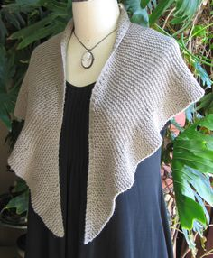 Who can resist a beautiful and sturdy garter-stitch shawl pattern called Eyre?!    To Eyre ...