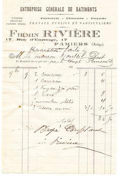 Gorgeous French Ephemera Image - Old Invoice - The Graphics Fairy