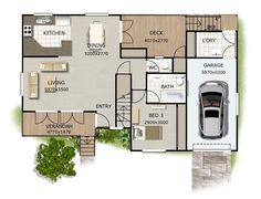 Carnival ground floor (see also loft level) - Valley Kit Homes - Australia Wide
