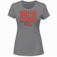 Denver Broncos Women's Mantra T-Shirt - Gray