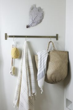 a different take on a towel rack