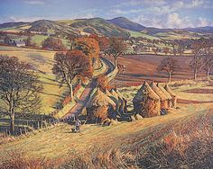 """James McIntosh Patrick loved the area where he lived (Angus and Dundee) and painted it prolifically. Landscape Art, Landscape Paintings, The Artist Magazine, Tate Gallery, Glasgow School Of Art, European Paintings, Dundee, Aerial View, Traditional Art"