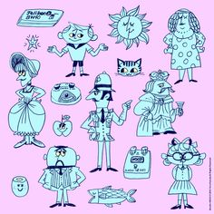 Today's Doodle! Character Drawing, Character Design, Glitter Room, Retro Cartoons, Cool Sketches, Drawing Techniques, Cartoon Drawings, Vintage Ads, Line Drawing