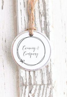 Our latest design, featuring a modern calligraphy and doodle circle. Round-business-card-stamp-calligraphy-business