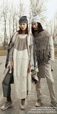 couture ways to wear winter knitwear alice fans ISSUU - October 2015 by Adany Garcia Knitwear Fashion, Knit Fashion, Big Knits, Looks Street Style, Arm Knitting, Knitted Blankets, Mode Style, Knitting Designs, Pulls