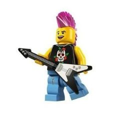 LEGO - Minifigure PUNK ROCKER (this is so cool! i have to make this for nicky!)