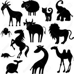 Afbeeldingsresultaat voor silhouette animal