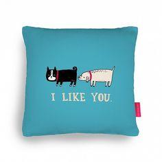 I Like You Cushion at http://www.ohhdeer.com