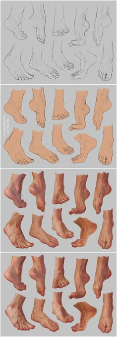 Drawing tutorials - Foot/Feet Reference: