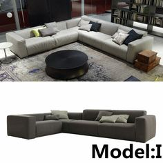 L Shape Comfortable Fabric Sofa In Living Room