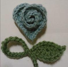 Mia's Heartful Hands: ~ rosy heart ~ crochet pattern
