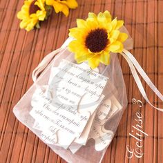 Wedding invitations yellow sunflowers puzzle sunflower wedding