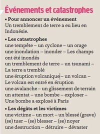 Evénements et catastrophes French Sayings, French Quotes, French Resources, French Language Learning, Teaching French, Idioms, Learn French, Languages, Literacy