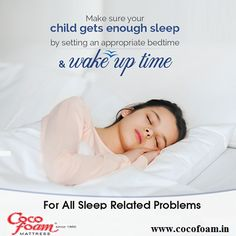 By doing this you not only ensure sufficient #sleep but also make them falling #asleep, #wakingup easier & less stressful. For more sleep related updates, visit: www.cocofoam.in