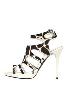 Karen Millen High Heel Giraffe Print Gladiator Platform Sandal Spring 2011 #Shoes #Heels