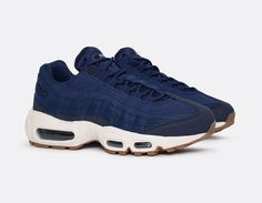 Nike Air Max 95 - Coastal Blue #sneakers Blue Sneakers, Air Max Sneakers, Sneakers Nike, Shoes 2017, Men's Shoes, Air Max 95, Nike Air Max, Hiking Shoes, Running Shoes