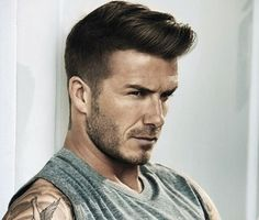 Trendy Male Celebrity Hairstyles 2015 David Beckham Haircuts #top players football haircut styles