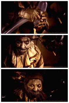 I didn't wanna sleep anyway!  AHS-Freakshow<<I wasnt scared of clowns.... this AHS Freak Show came along >-<