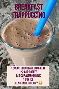Healthy Frappuccino using Juice Plus+ Complete Chocolate